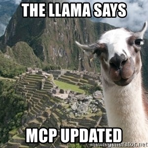 Bossy the Llama - The Llama says MCP updated