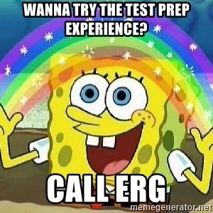 Imagination - wanna try the test prep experience? call ERG