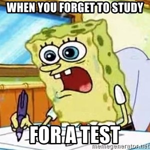 Spongebob What I Learned In Boating School Is - When you forget to study for a test