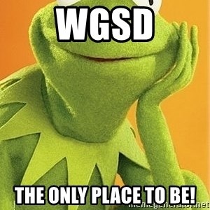 Kermit the frog - WGSD The only place to be!