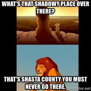 Lion King Shadowy Place - What's that shadowy place over there? That's Shasta County you must never go there.