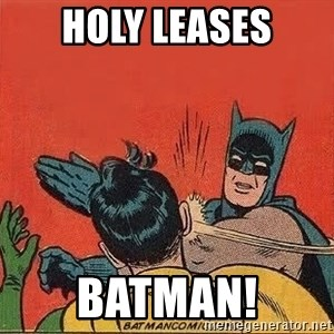 batman slap robin - holy leases batman!