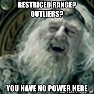 you have no power here - restriced range? outliers?  you have no power here