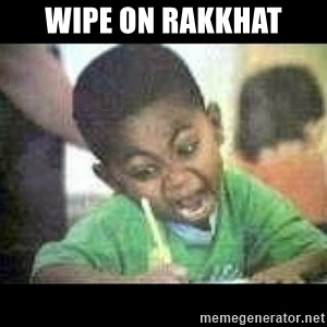 Black kid coloring - Wipe on Rakkhat