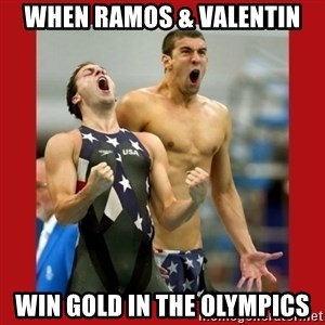 Ecstatic Michael Phelps - WHEN RAMOS & VALENTIN WIN GOLD IN THE OLYMPICS