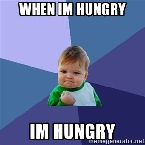 Success Kid - when im hungry  im hungry
