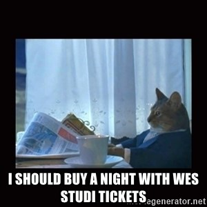 i should buy a boat cat - I should buy A Night with Wes Studi tickets