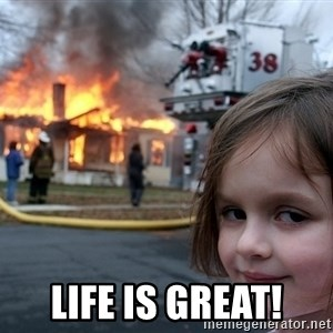 Disaster Girl - Life is great!