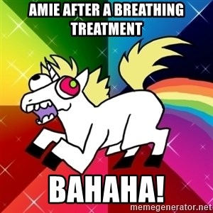 Lovely Derpy RP Unicorn - Amie after a breathing treatment Bahaha!