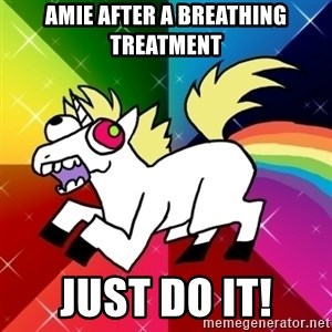 Lovely Derpy RP Unicorn - Amie after a breathing treatment Just do it!