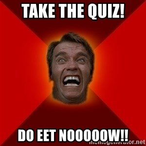 Angry Arnold - take the quiz! do eet nooooow!!