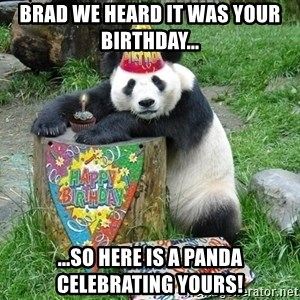 Happy Birthday Panda - Brad we heard it was your birthday...  ...so here is a panda celebrating yours!