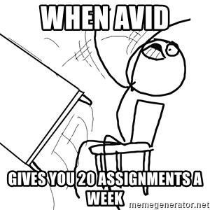 Desk Flip Rage Guy - When Avid  Gives you 20 Assignments a week