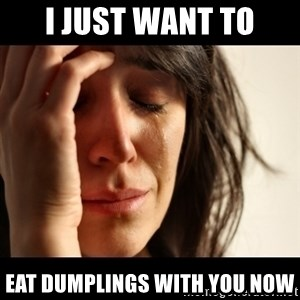 crying girl sad - i just want to eat dumplings with you now