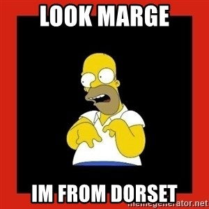 Homer retard - Look marge Im from dorset