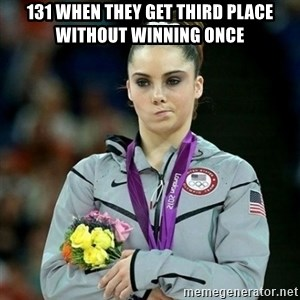 McKayla Maroney Not Impressed - 131 when they get third place without winning once