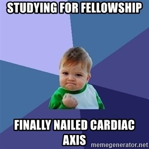 Success Kid - Studying for fellowship Finally nailed cardiac axis