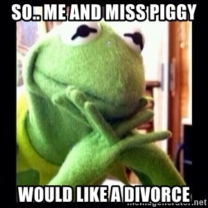 Kermit funny - so.. me and miss piggy would like a divorce