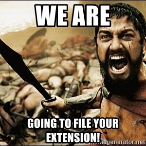 This Is Sparta Meme - we are going to file your extension!