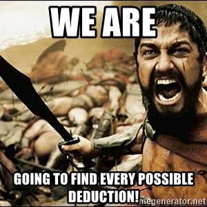 This Is Sparta Meme - we are going to find every possible deduction!
