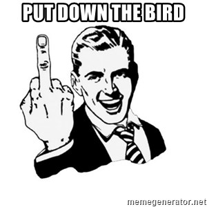 middle finger - put down the bird