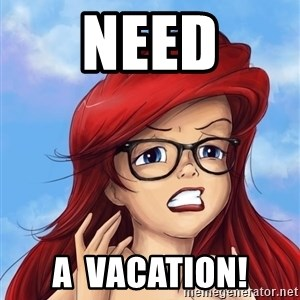 Hipster Ariel - need a  vacation!