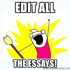 All the things - Edit All the essays!