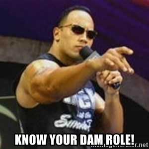 Dwayne 'The Rock' Johnson - Know your dam role!