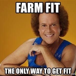 Gay Richard Simmons - Farm Fit  The only way to get fit