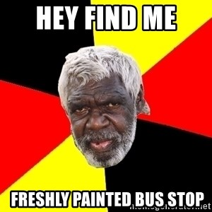 Abo - Hey find me   freshly painted bus stop