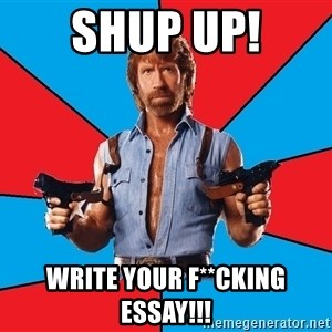 Chuck Norris  - shup up! write your f**cking essay!!!