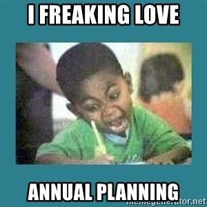 I love coloring kid - I freaking Love Annual Planning