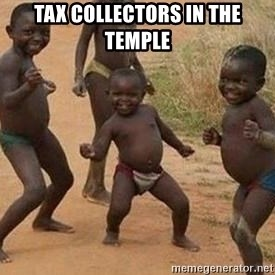 african children dancing - Tax collectors in the temple