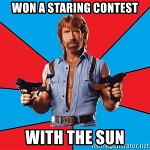 Chuck Norris  - Won a staring contest With the sun