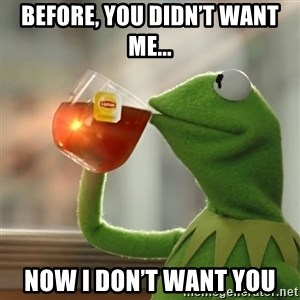 Kermit The Frog Drinking Tea - Before, You Didn't Want Me... Now I Don't Want You