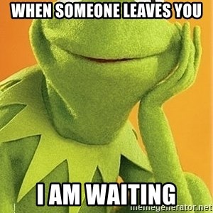 Kermit the frog - When someone leaves you I am waiting