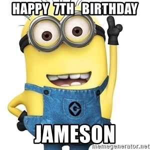 Despicable Me Minion - HAPPY  7th   BIRTHDAY JAMESON