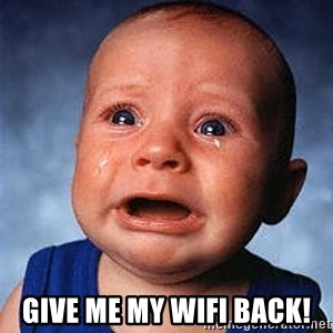 Crying Baby - Give me my Wifi back!
