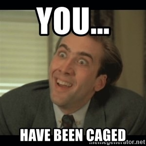 Nick Cage - YOU... Have been caged