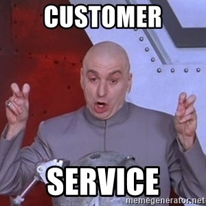 Dr. Evil Air Quotes - customer service