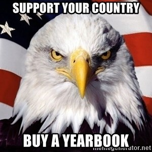 American Pride Eagle - support your country buy a yearbook