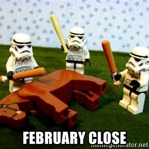Beating a Dead Horse stormtrooper - February Close