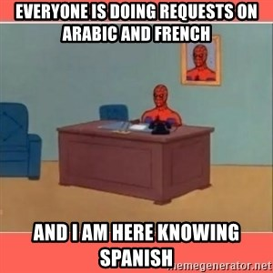 Masturbating Spider-Man - EVERYONE IS DOING REQUESTS ON ARABIC AND FRENCH AND I AM HERE KNOWING SPANISH