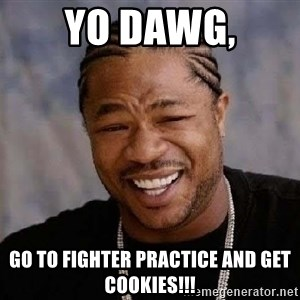 Yo Dawg - Yo dawg, go to fighter practice and get cookies!!!