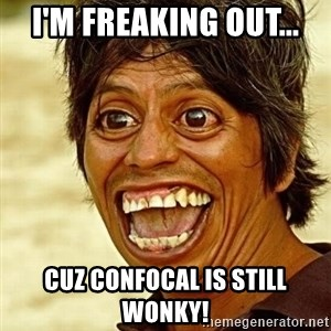 Crazy funny - I'm freaking out... Cuz confocal is still wonky!