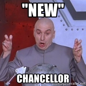 "Dr. Evil Air Quotes - ""NEW"" Chancellor"