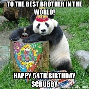 Happy Birthday Panda - To The Best Brother In The World! Happy 54th Birthday Scrubby