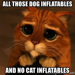 Shrek Cat V1 - all those dog inflatables and no cat inflatables