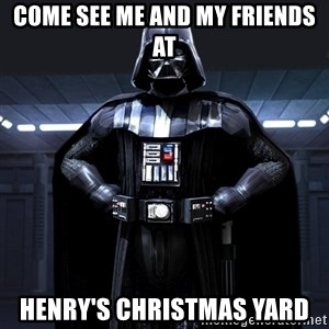 Darth Vader - come see me and my friends at Henry's christmas yard
