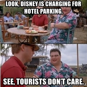 See? Nobody Cares - Look, Disney is charging for hotel parking. See, tourists don't care.